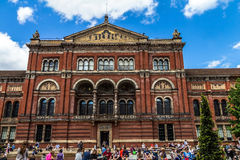 Unidentified visitors at the courtyard of Victoria and Albert Museum. London. UK Royalty Free Stock Images