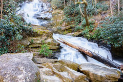 Unidentified waterfall in the North Georgia Mountains. Stock Image