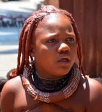 Unidentified woman from Himba tribe. royalty free stock images
