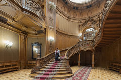 Lobby of Scientists` House in Lviv, Ukraine. Royalty Free Stock Photo