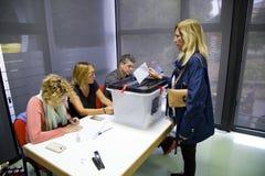 Catalan independence referendum Stock Images