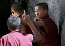 Unidentified young monks Royalty Free Stock Photos