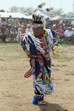 Unidentified young Native American dancer at the NYC Pow Wow Stock Image