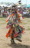 Unidentified young Native American dancer at the NYC Pow Wow Royalty Free Stock Images