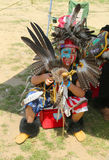 Unidentified young Native American dancer at the NYC Pow Wow Royalty Free Stock Photos