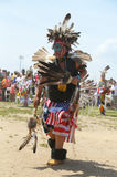 Unidentified young Native American dancer at the NYC Pow Wow in Brooklyn Stock Image