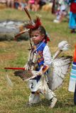 Unidentified Young Native American during 40th Annual Thunderbird American Indian Powwow stock images
