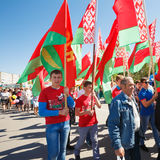 Unidentified Youth From Patriotic Party Brsm Holds Flags On The Royalty Free Stock Photography