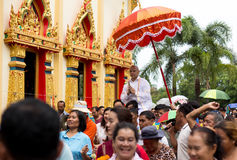 Unidentifield peoples ceremony new Ordained At Royong temple Thailand. June 18 : 2016 - Unidentifield peoples ceremony new Ordained At Royong temple Thailand stock photography