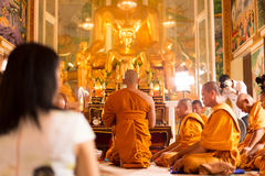 Unidentifield peoples ceremony new Ordained at Royong temple Thailand. June 18 : 2016 - Unidentifield peoples ceremony new Ordained at Royong temple Thailand stock photos