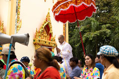 Unidentifield peoples ceremony new Ordained At Royong temple Thailand. June 18 : 2016 - Unidentifield peoples ceremony new Ordained At Royong temple Thailand stock images