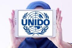 UNIDO, λογότυπο οργάνωσης βιομηχανικής ανάπτυξης Ηνωμένων Εθνών στοκ φωτογραφίες