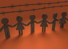 Unido contra racismo Imágenes de archivo libres de regalías