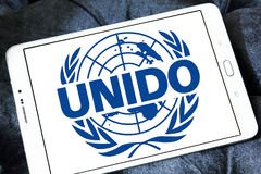 UNIDO, logo di Organizzazione delle Nazioni Unite per lo Sviluppo Industriale Immagine Stock Libera da Diritti