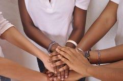UNIDO PARA LA PAZ EN ÁFRICA Y EL MUNDO Foto de archivo libre de regalías