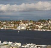 Unie de van de binnenstad van het het zuidenmeer van Seattle stock foto's