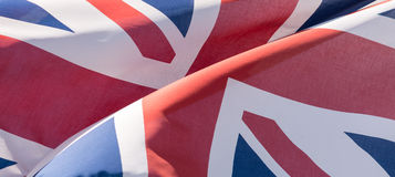 Unie Dichte Omhooggaand van Jack Waving Flag B Royalty-vrije Stock Foto's