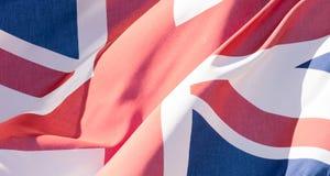 Unie Dichte Omhooggaand van Jack Waving Flag F Stock Foto's