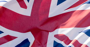 Unie Dichte Omhooggaand van Jack Waving Flag K Royalty-vrije Stock Fotografie