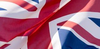 Unie Dichte Omhooggaand van Jack Waving Flag N Royalty-vrije Stock Foto's