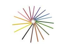 Unie groep door potloodkleur die wordt voorgesteld Stock Afbeelding