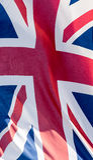 Unie Jack Waving Flag I dicht omhoog Royalty-vrije Stock Foto