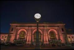 Unie post, de stad van Kansas, gebouwen, nacht stock afbeelding
