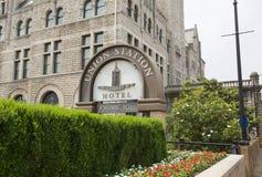 Unie Post Eerste 108 Hotel, Nashville Tennessee Stock Foto's