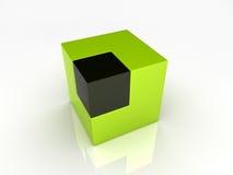 Unie van grote en kleine kubussen Vector Illustratie