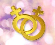 Unie van vrouwelijke symbolen stock illustratie