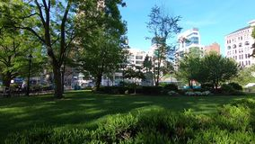 Unie vierkant park in Manhattan stock video