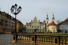 Unie vierkante Timisoara, Roemenië Stock Foto