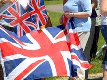 Unie vlaggen Stock Fotografie