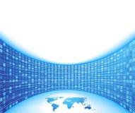 Uniek bedrijfsconcept - blauwe kaart Royalty-vrije Stock Foto