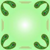 Uniek hand getrokken abstract bloemenkader Naadloos patroon decor Royalty-vrije Stock Afbeelding