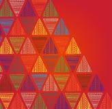 Uniek hand getrokken driehoekspatroon vector illustratie