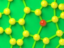 Uniek in het netwerk stock illustratie