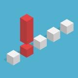 Uniek isometrisch uitroepteken Vector Illustratie