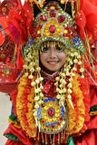 Uniek Kostuum met rode themakleur Royalty-vrije Stock Foto's