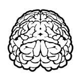 Uniek menselijk hersenenteken Royalty-vrije Stock Foto's