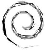 Uniek misvormde werveling, draaivorm zwart-wit spiraalvormig ontwerp e royalty-vrije illustratie