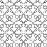 Uniek naadloos die patroon, van sleutels wordt gemaakt stock illustratie