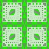 Uniek naadloos geometrisch patroon Groen Stock Afbeelding