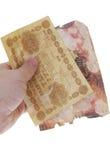 Uniek oud Russisch bankbiljet (het jaar van 1918) Stock Foto
