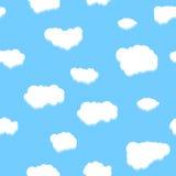 Uniek wolken naadloos patroon Royalty-vrije Stock Fotografie
