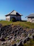 Unieke aard van Groot Zayatskyi-eiland, dat deel van Solovetsky-archipel, Witte overzees, Rusland uitmaakt royalty-vrije stock foto's