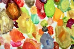 Unieke abstracte achtergrond die in de stijl van een Pierre Bonnard-palet wordt geschilderd stock foto