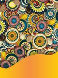 Unieke Abstracte Etnische Patroonkaart royalty-vrije illustratie