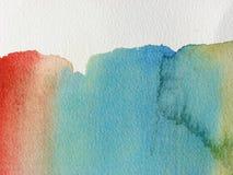 Unieke Abstracte waterverfachtergrond Royalty-vrije Illustratie
