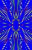 Unieke blauwe achtergrond De stroken divergeren van het midden aan de randen vector illustratie